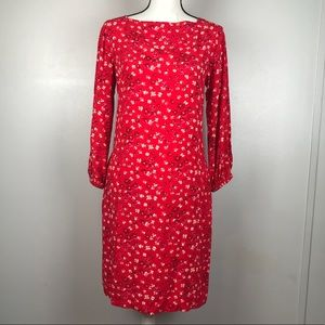 NEW Gap Red Floral Holiday Shift Dress XS